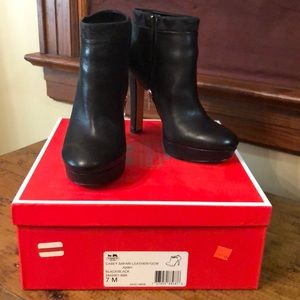 Coach leather bootie